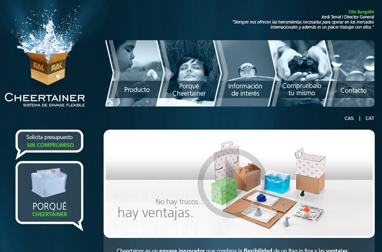 Microsite Cheertainer